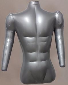 Großhandel 73cm sexy Dickere Abschnitt aufblasbare Puppe Mannequins Körper männlichen Modell Büste mit den Händen, Puppe Maniquis para ropa 1PC M00039