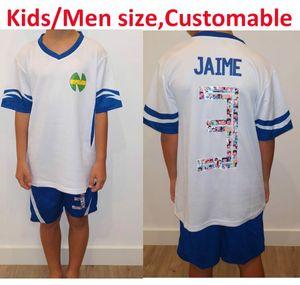 Customable Asia size Kids men ,Camiseta ATOM Maillots de Foot Enfant Spain France Japan kit Oliver Atom Captain Tsubasa