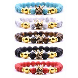High quality Couple designer bracelets men and women 2020 new bead bracelets micro-inlaid zircon crown free shipping