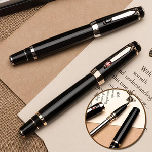 Penna di lusso di marca Meisterstcek resina nera Roller - sfera -Fountain Penne fornitura scuola di scrittura con