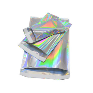 23cmx32.5cm Self-seal Adhesive Courier Bags Laser Holographic Plastic Poly Envelope Mailer Postal Shipping Mailing Bags Cosmetic Underwear