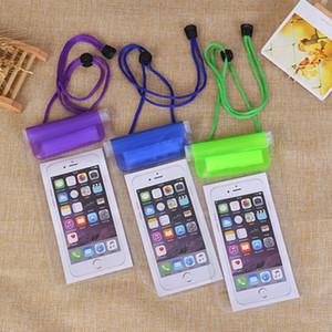 Dupla face transparente PVC Touchscreen Mobile Phone Pouch Waterproof Bag Pacote seco selado Armazenamento bolso para Rafting Boating Parques aquáticos