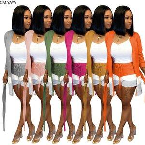 Hiver élégante laine tricotée ensemble Open féminin point Jupettes manteau short longueur cheville costume deux pièces ensemble salopette Survêtement GL6316