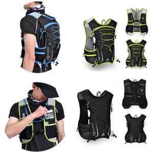Campeggio d'escursione esterno in bicicletta Esecuzione Hydration Packs zaino Sport Vest Water Bag pacchetto Off-road Marathon Luce traspirante 5L Zaino