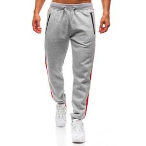 Pop2019 Dış Ticaret Isı Satmak erkek Giyim Spor Fermuar Cep Pantolon Kenar Bölünmüş Ortak Tasarım Hareket Pantolon