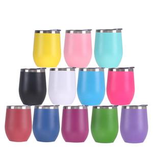 Aço 12 onças Wine Tumbler Cup canecas inoxidáveis do ovo Forma copos de cerveja Thicker Garrafa de Leite água para beber