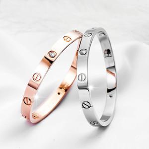 design clássico jóia mulheres pulseira com pulseiras homens de cristal ouro 18k de aço parafuso de amor pulseira de aço inoxidável