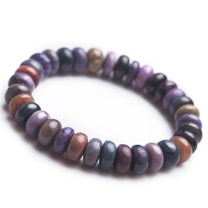 South African Genuine Natural Sugilite Bracelets Women Female Stretch Marquise Abacus Bead Natural Stone Fitness Bracelet
