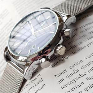 dos homens de alta qualidade BOSS luxo relógio de pulso 43 milímetros de aço malha relógios mens relógio à prova d'água designer de relógios de luxo Mens Relógios orologio