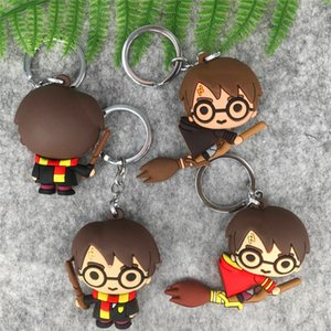 Lot novas 10 unidades Harry Potter 3 Estilo de misturar unilateral Rubber Cell Phone Straps Keyrings Chaveiro Charme Pingentes