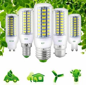 새로운 도착 LED 스포트 라이트 LED 조명 E27 E14 5730 SMD LED 옥수수 전구 3W 5W 빛 화이트 램프 따뜻한 화이트 AC110V / 220V