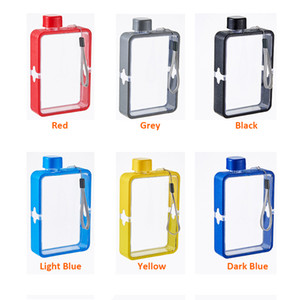 A5 Flat Plastic Water Kettle 13oz 380ml Portable Creative Paper Drinks Bottle Gift Custom Square Water Flask Outdoor Sports Water Bottle A09