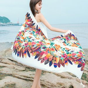 2020 thick cotton twill printing national wind Ms. warm scarves air conditioning shawl scarves sun Variety anti-Sai