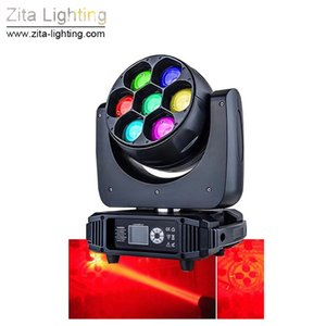 Zita Lighting 7 * 40W LED Moving Head Lights Bee Eye Wash Beam Stage Lighting DMX512 Moving DJ Disco Party Event Light Atmosphere Effect
