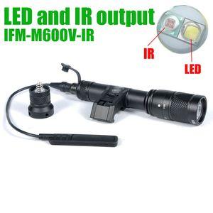 LED Light Gun tattica SF IFM M600V IR doppio bianco e uscita IR torcia elettrica di caccia Nero