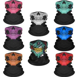 이음새가 없는 두개골 밴대 힙합의 마법의 머리를 타고 가면 관 목 얼굴 Headscarves 스포츠 마법 헤드밴드 두개골 인쇄 두건 GGA3331