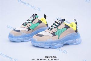 Xshfbcl Yeni Paris Erkek ve Kadın Moda Üçlü S Sneakers Kristal Alt Casual Baba Ayakkabı Bej Spor Progettista Ayakkabı numarası 36-45