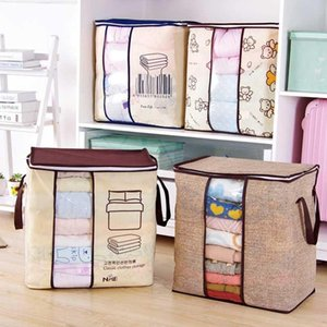 Portable Foldable Non-Woven Clothes Quilts Storage Bag Home Save Space Organizer Bags For Pillow Blanket Bedding 6A0108
