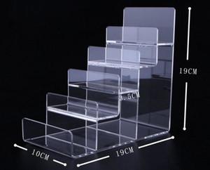 Livraison gratuite 5 couches acrylique Porte-monnaie Présentoir bourse étagère bijoux cosmétiques de téléphone de mode Porte-écran vernis à ongles porte SH190918