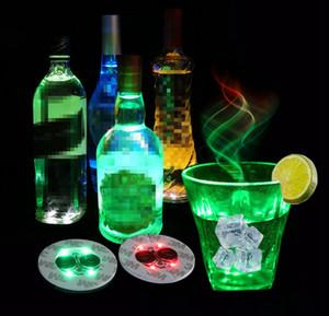 지도 한 바 컵 코스터 라이트 업 컵 스티커 음료 컵 홀더 빛 와인 주류 병 파티 웨딩 장식 용품 소품 6cm FFA3396