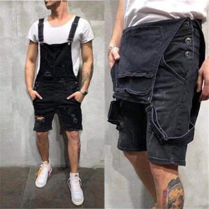 Designer Herren Jean Overalls Summer Fashion Holes dünne Jean Shorts Plus Size Arbeitshose