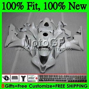 Корпус впрыска + бак для HONDA CBR 600RR 07 CBR 600 RR F5 07 08 60GP19 CBR600RR Cbr600f5 жемчужно-белый CBR600 RR 2007 2008 обтекатель кузова
