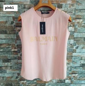 Frauen Designer-Weste-T-Shirts 2019 Marken-Frauen Ärmel Shirts Sexy Print Letters mit Knöpfen Tanks Frauen Luxus Camis Tops 19 Styles