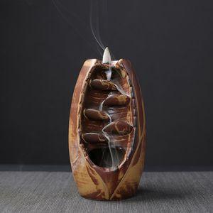 TOP! -Ceramic الشلال ارتجاعي مبخرة مبخرة حامل التأمل الحرف معبد الرئيسية ديكور غرفة هدايا زين الحلي من الضروري النفط