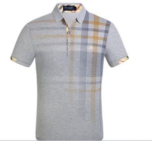 Heiße Verkauf G2Y Art und Weise burburry Männer beiläufige kurze Hülse neue Reverst-shirt Männer tragen Polohemdkurzschlußhülsenmarkensweatshirts