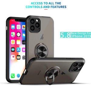 360 링 홀더 클리어 무광택 마그네틱 폰 케이스 아이폰 12 Pro Max Mini Case 삼성 갤럭시 A10s A20s와 하이브리드 킥 스탠드
