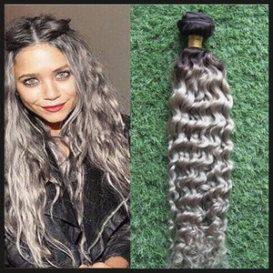 KINKY CURLY Bundles Brazilian Hair Weave Bundles 100% Human Hair Bundles 1PCS Ombre Color Non Remy Hair Weave 100G