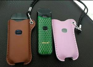 حقيبة جلد ل smok novo / nord vape pen necklace تحمل حقيبة الحقيبة حامل الأسود العنبر اللون السجائر القضية حقيبة