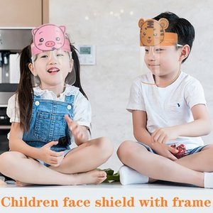 PET enfants Cartoon écran facial avec des lunettes de sécurité Chidren de protection Masque facial anti-buée Isolation masque anti-éclaboussures Visor DHB188