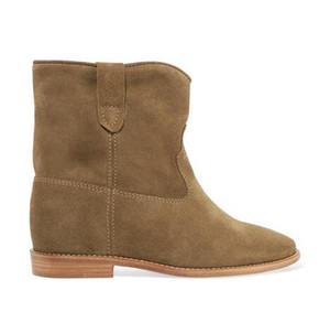 Kadınlar Gerçek Deri Isabel Crisi Süet Bilek Boots Batı Stiller Moda Paris New Patik Ayakkabı On Marant Çekme