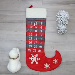 Festivali Ağacı Kolye Çorap Noel Çorap Kırmızı Kar Tanesi Numarası Desen Hediye Paketi Çanta Çorap Yeni Varış 31 5cx L1