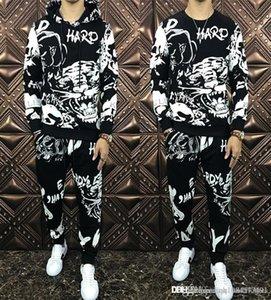 2019Hot los hombres chándal El esqueleto de imprimir nuevos Sudaderas Sweat hombre de lujo diseñador de traje de hombre sudaderas marca de ropa sudor trajes