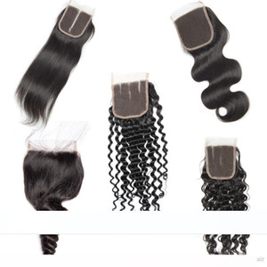 H 4 X 4 Brazilian Closure Hair Straight Loose Deep Curly Water Closures Human Hair Free Middle Three Part Lace Closure 8 &Quot ;-20 &Qu