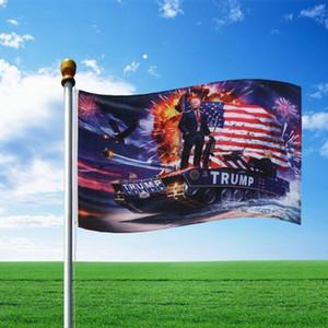 3 * 5ft Trump Flag 90 * 150cm Drapeau Bannière Polyester Donald Trump drapeaux réservoir Drapeaux américains Décor bannière Hanging Drapeau