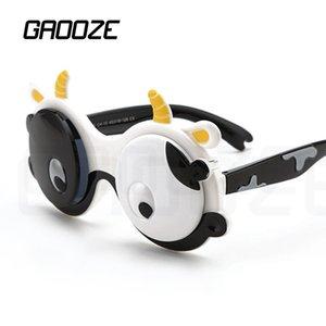 GAOOZE Children Polarized Sunglasses Little Boys Sunglasses Cows Animals Round Glasses Luxury Polarizing Glasses Oculos LXD262