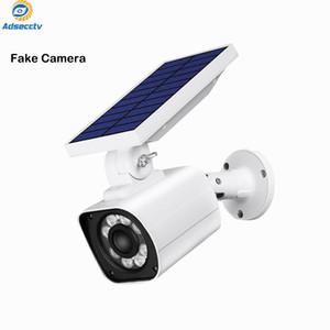 Ao ar livre câmera falsa carregador solar IP66 À Prova D 'Água Segurança CCTV Manequim Câmera Com inteligente piscando LED Light uma vez detecção do corpo