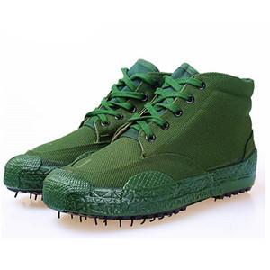 Venta caliente-nuevos hombres lienzo bot bot de camuflaje botas tácticas de combate alta marina antideslizante botes de goma transpirables selva botas militares