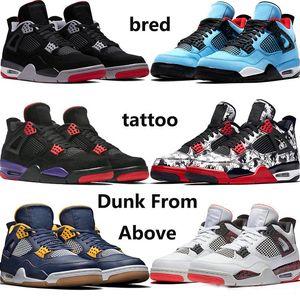 2019 NOVO 4s Pure dinheiro Motorsport Shoes Preto Infrared NRG Raptors Basketball Black White Cement Graffiti Cactus Mens 4 Bred Royalty Sneaker