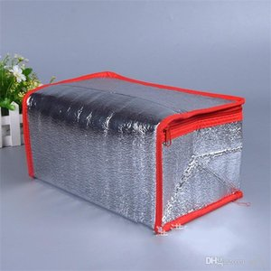 Aluminiumfolie Cooler Tragbarer Streifen-Wasser-Beweis kalte Kompresse Paket Wärmedämm-Beutel Eisbeutel Insulated Zipper 2 8zyC1