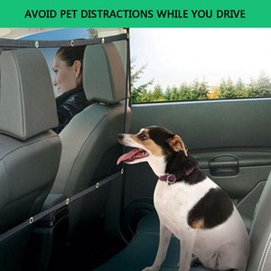 Cachorro Car Guarda Van Segurança Frente Net Ou Back Seat Barreira Nylon malha de alta resistência anti-envelhecimento materiais anti-cortante 8Z mordida