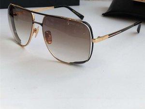 Männer zwischen Nacht Special Run Way Sonnenbrille Schwarz Gold / Brown Gradient Vintage-Sonnenbrillen Driving Gläser Neu mit Box