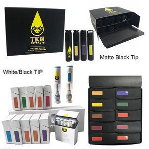 TKO Sauce Vape Emballage de cartouche céramique vide 0.8ml 1ml Vape Pen Cartouches 510 fil de la batterie Dab Pen huile-cire E cigarette