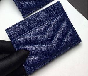 2020 I titolari nuova carta di moda donna caviale vera pelle di lusso portafogli Pebble texture di colore puro mini raccoglitore del progettista con logo Y Lettera
