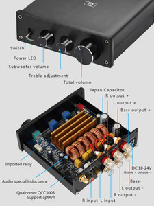 Freeshipping HiFi 2.1 canais DAC Decoding Bluetooth 5.0 ll Opcional Classe-D TPA3116 Amplificadores Home Audio Amplificador de Som Digital