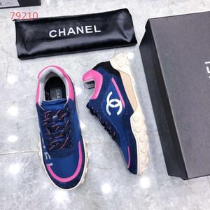 chanel Лучшее Качество 2019 Высокого класса Высококлассные Мужчины Черный Высокий Верх Полосы Бизнес Обувь Из Натуральной Кожи Мужчины Офисная Обувь Size35-45