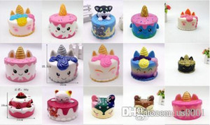 US New mole bonito unicórnio rosa brinquedos 11CM colorido cauda dos desenhos animados Unicorn bolo bolos Fun Kids presente mole lenta Nascente Squishies Kawaii